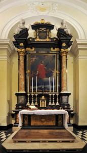 Altare della cappella di San Vincenzo.