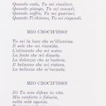 Parte di una poesia francese sul Crocefisso.