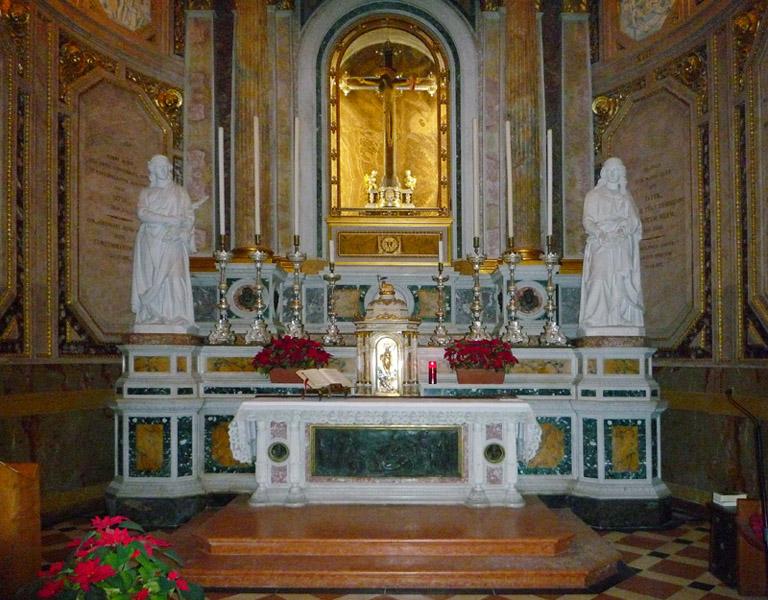 Seconda Cappella di sinistra - Del Crocifisso.