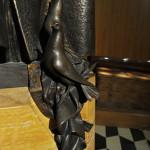 Particolare scultura bronzea Papa Roncalli.